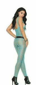 3900f36d19 Elegant Moments Intimates   Sleepwear - Crochet pothole bodystocking with open  crotch